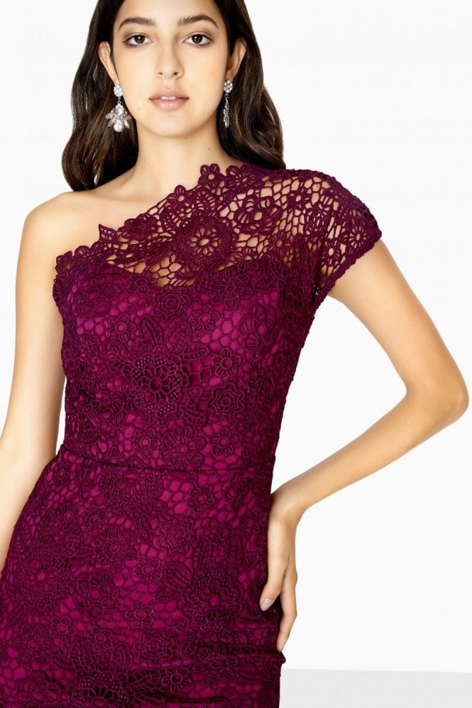 Paper Dolls Melbourne One Shoulder Lace Maxi Dress