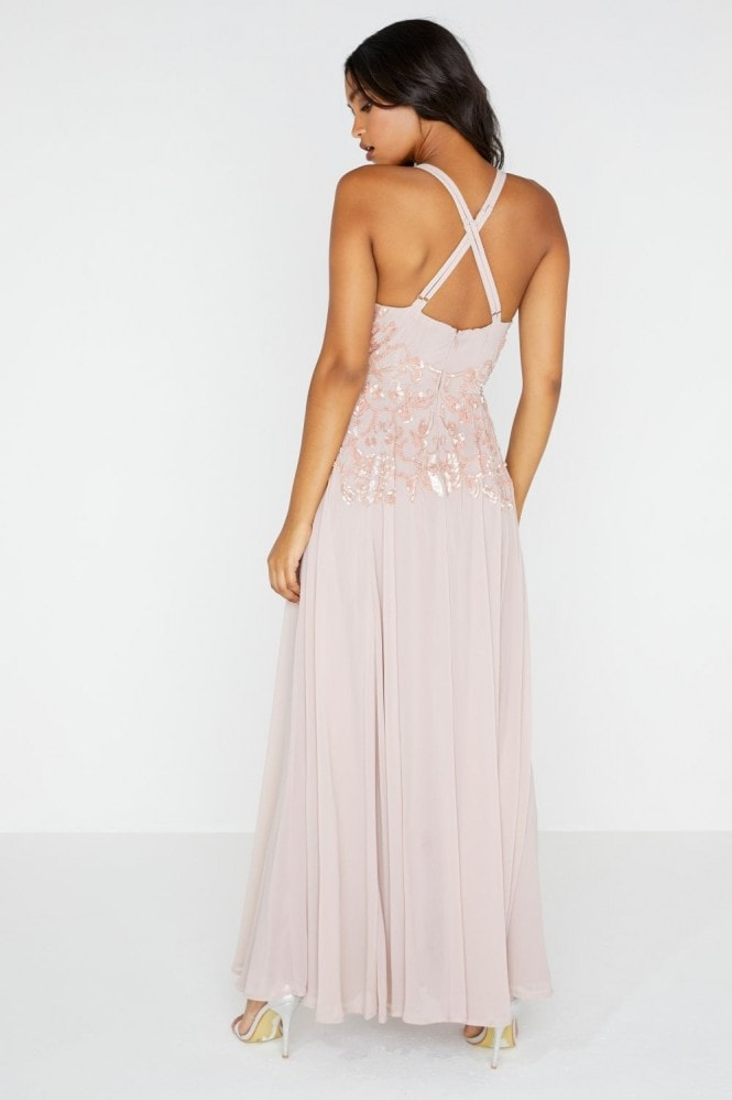 Luxury Rylie Hand-Embellished Maxi Dress