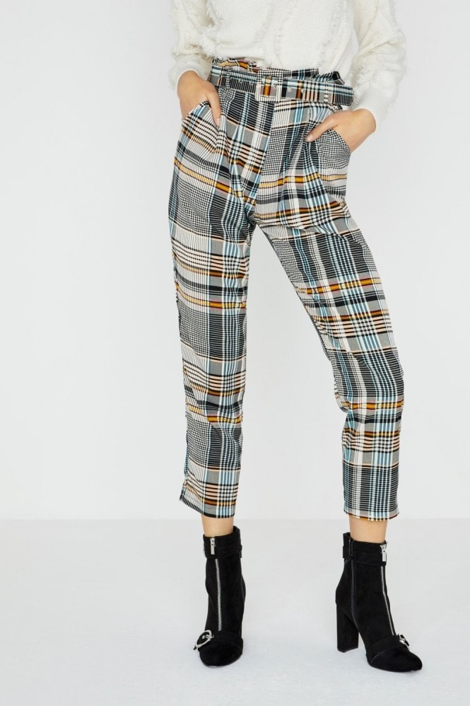 Girls on Film Trix Check Plaid Trouser