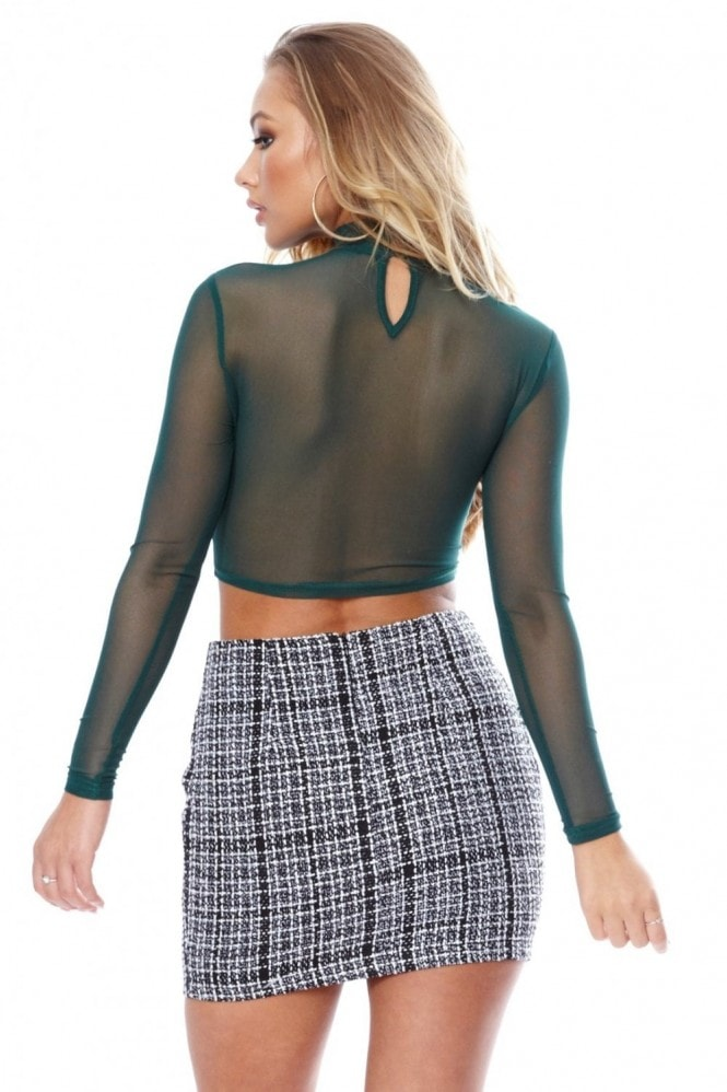 Anarchy Boucle Check Skirt