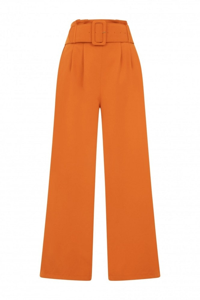 Studio Mouthy Burnt Orange Paperbag Trousers