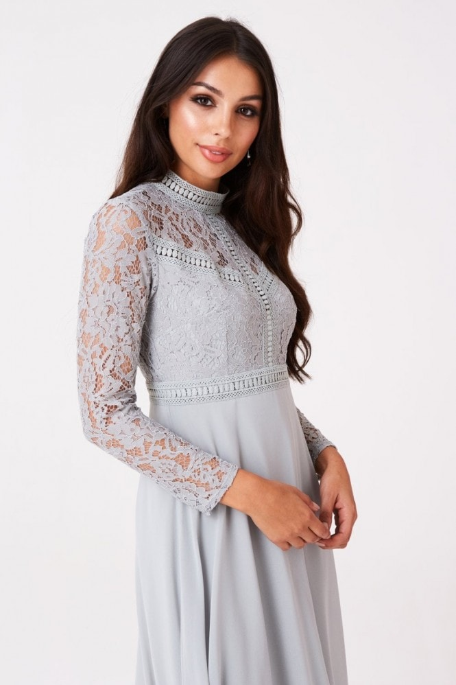 Little Mistress Emilia Geometric Lace Midaxi
