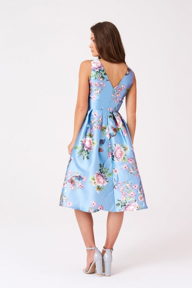 Little Mistress Molly Skater Prom Dress In Vintage Floral