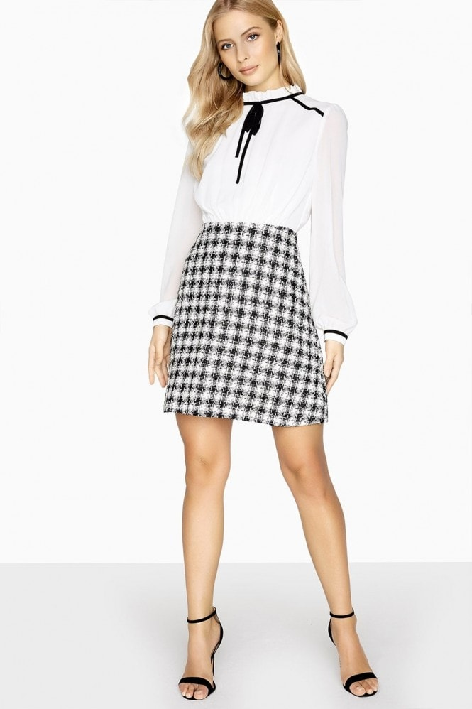 Paper Dolls Rochelle Tie Boucle Shift Dress