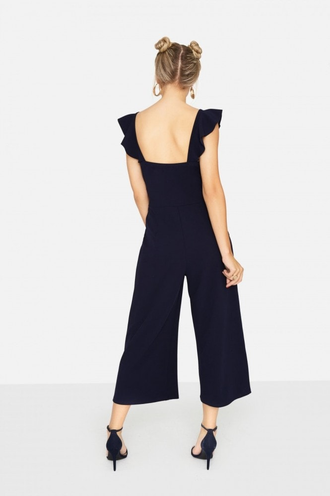 Girls on Film Veto Frill Culotte Jumpsuit