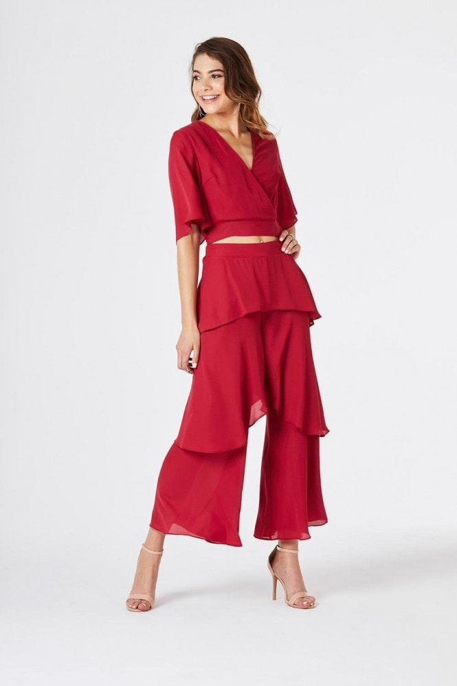 Girls on Film Phoenix Layered Culotte Trousers