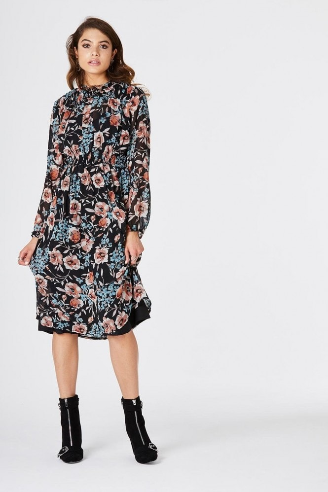 Girls on Film Amos Tea Dress In Floral