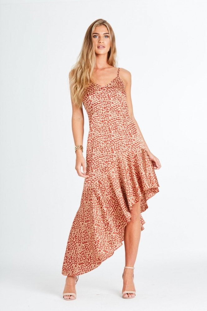 Ashton Orange Leopard Dress