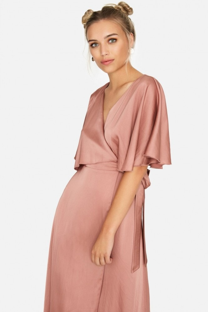 Girls on Film Les Nuits Satin Wrap Dress