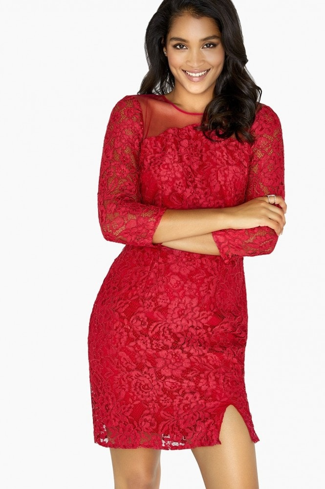 Little Mistress Evalina Lace Bodycon Dress