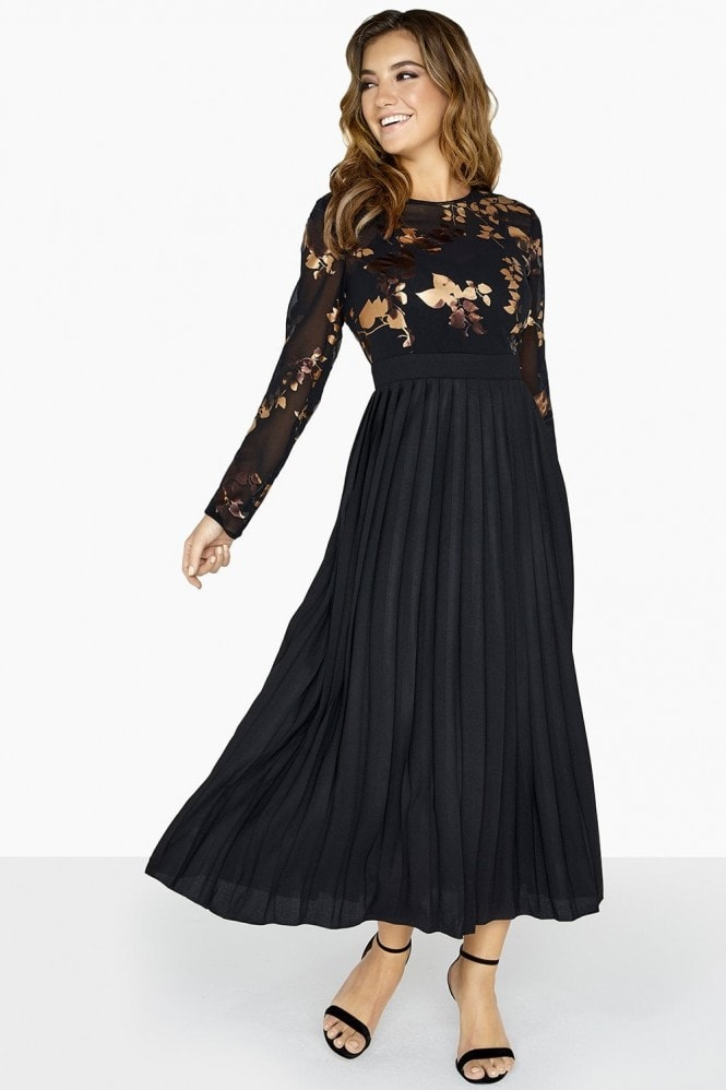 Fifi Gold Foil Midaxi Dress