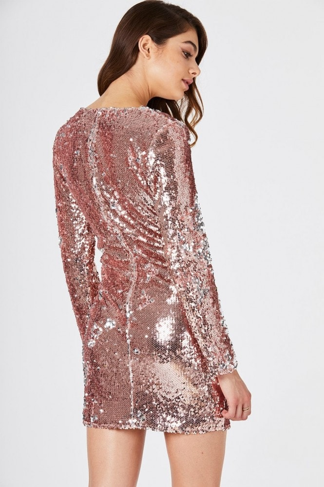 Girls on Film Guild Gold Sequin Bodycon Dress