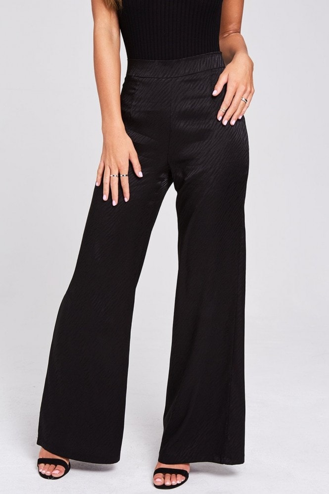 Nomad Black Animal Print Trousers