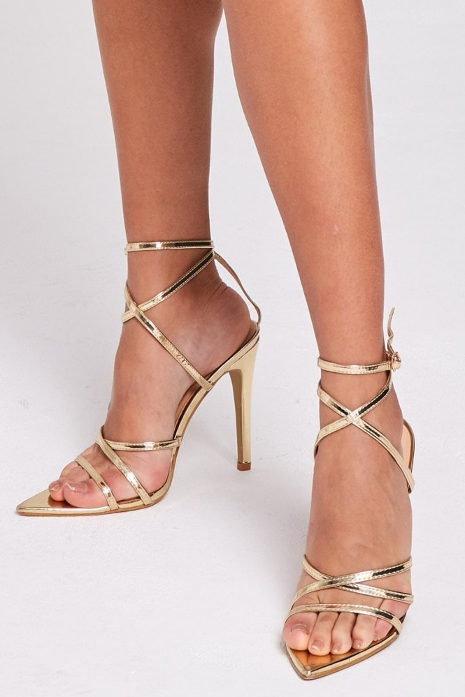 Gold Strappy Stiletto