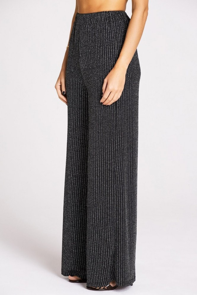 Studio Mouthy Black Lurex Trousers
