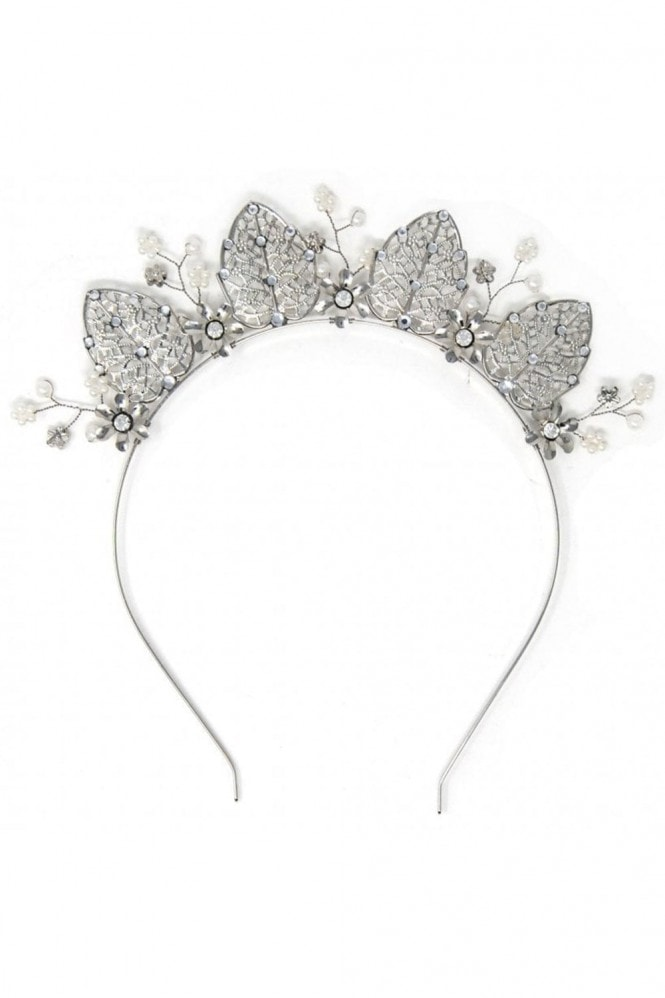 Johnny Loves Rosie Silver Occasion Crown Headband