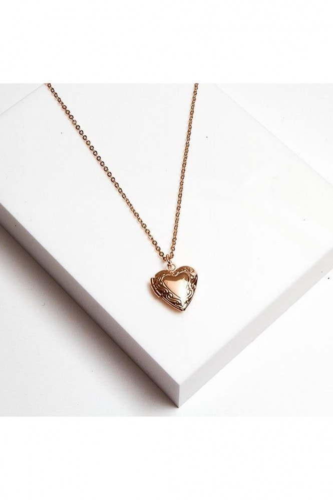 Johnny Loves Rosie Gracie Heart Locket Necklace 48cm