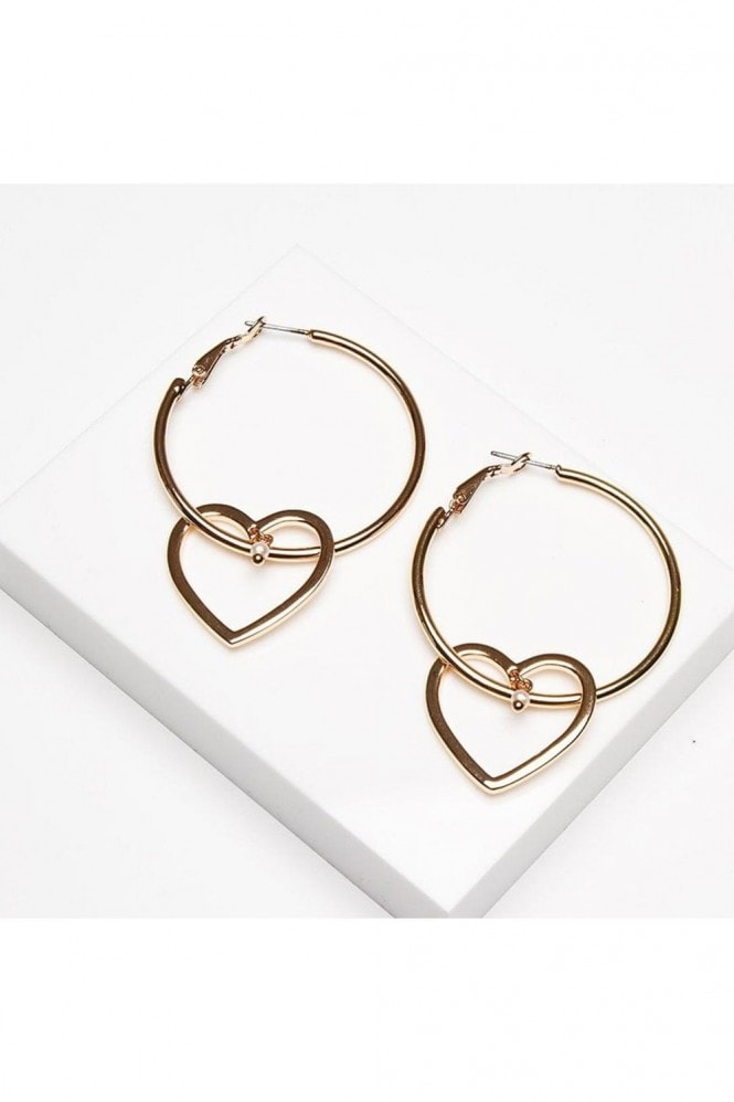 Johnny Loves Rosie Hallie Heart Hoop Earrings