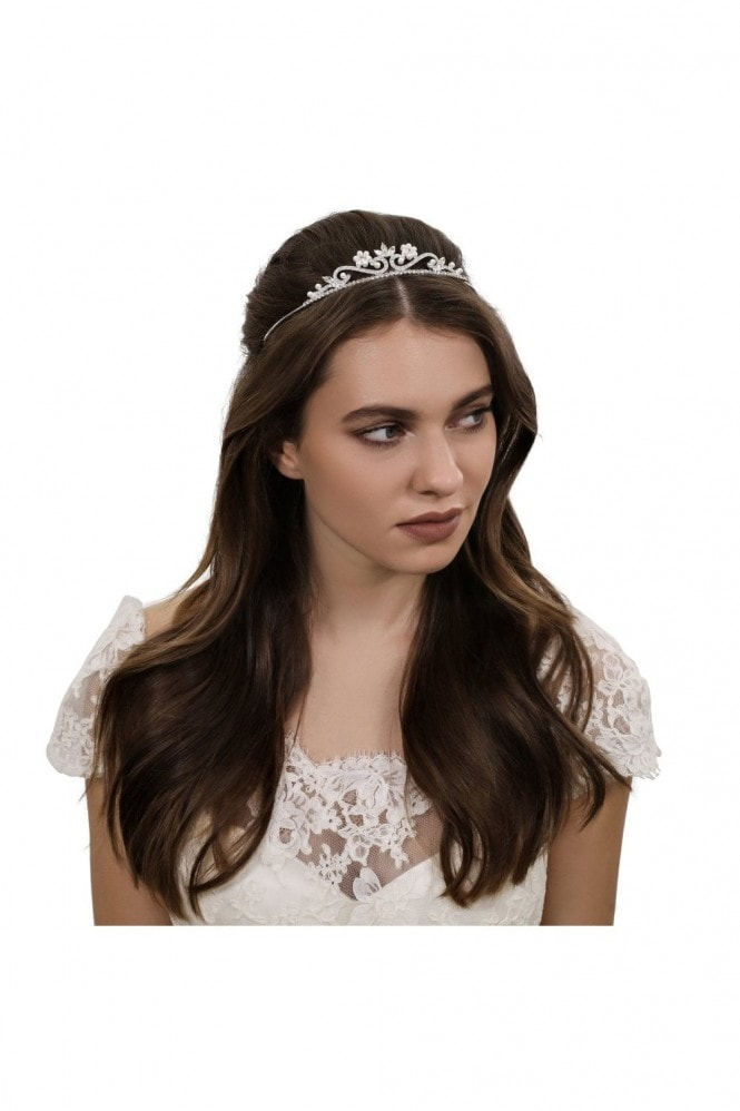 Jon Richard Jewellery Childs pearl and crystal flower tiara