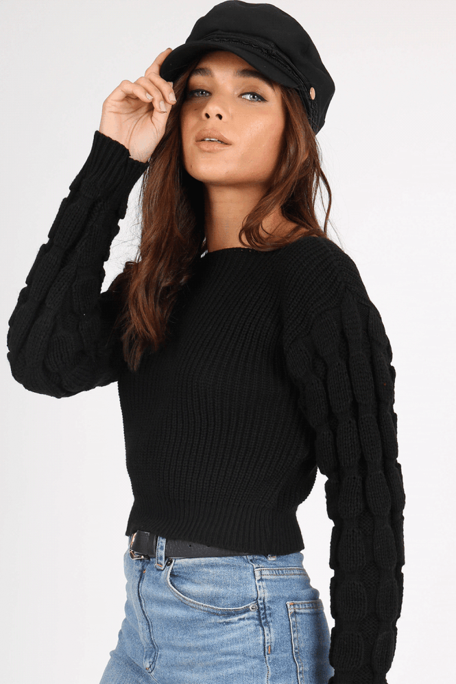 Mateo Black Knitted Jumper