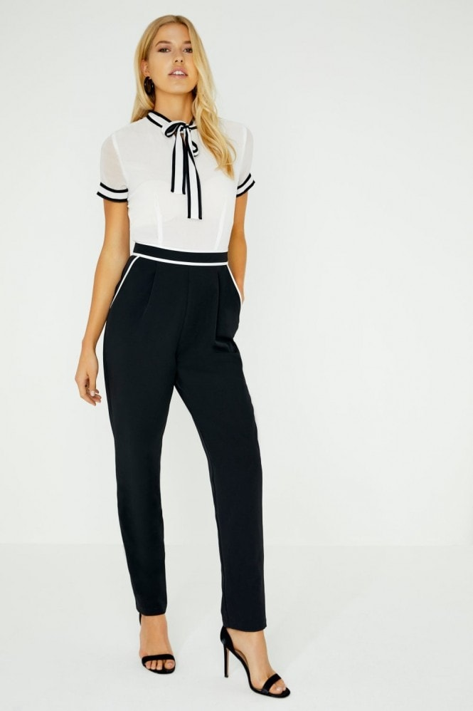 Paper Dolls Holt Contrast Piping Jumpsuit