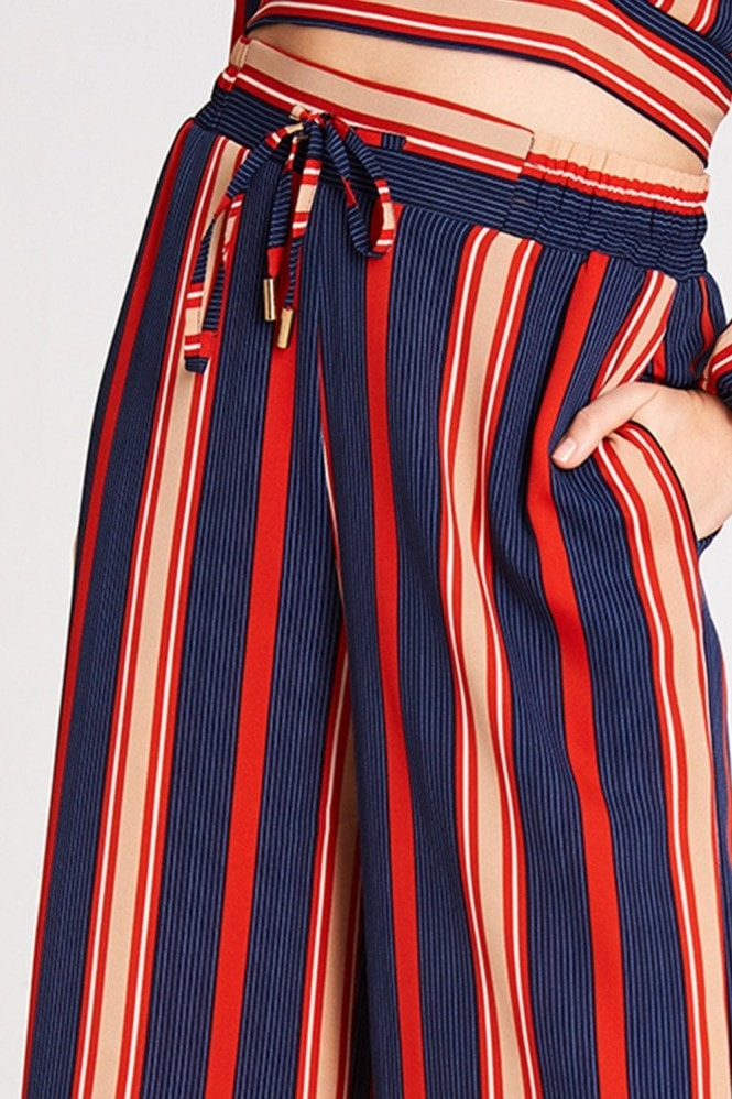Girls on Film Ginny Stripe Palazzo Trousers Co-Ord