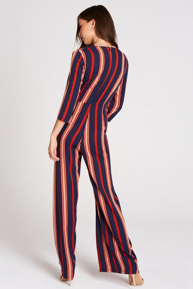 Girls on Film Sala Stripe Jumpsuit