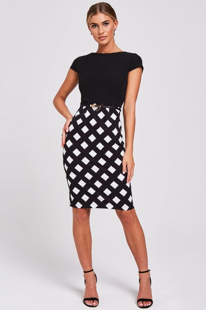 Paper Dolls Santiago Black Check Dress