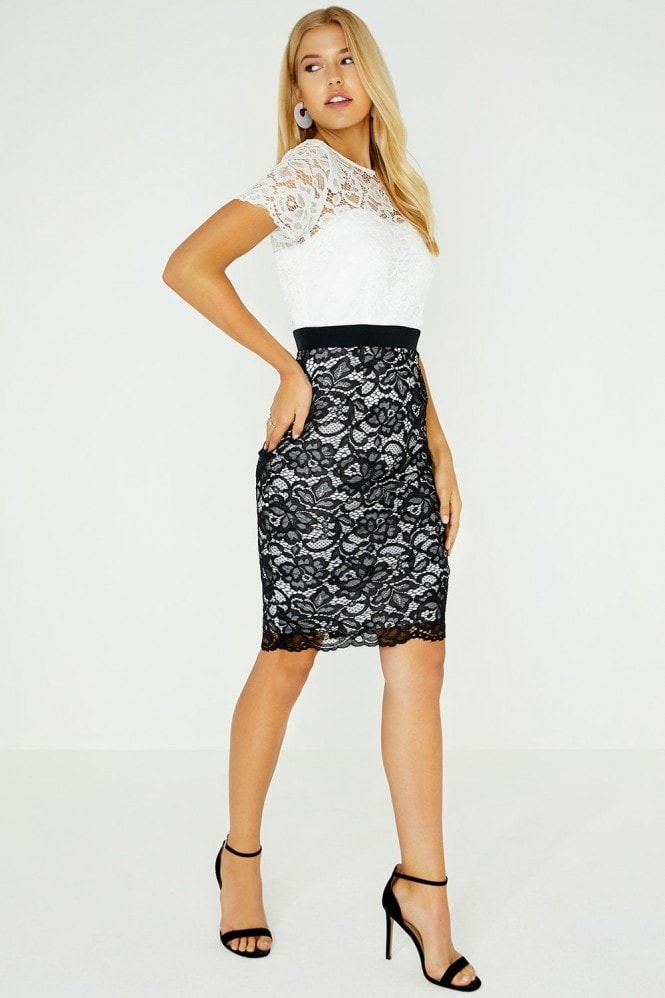 Paper Dolls Covina Contrast Lace Dress