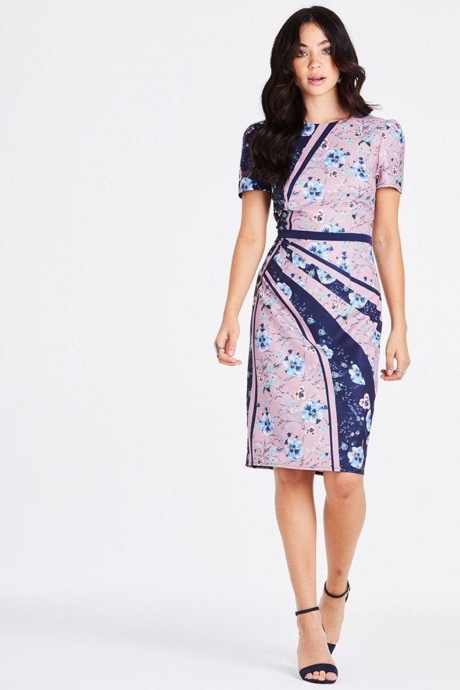 Little Mistress Arlie Ditsy Floral Pencil Dress