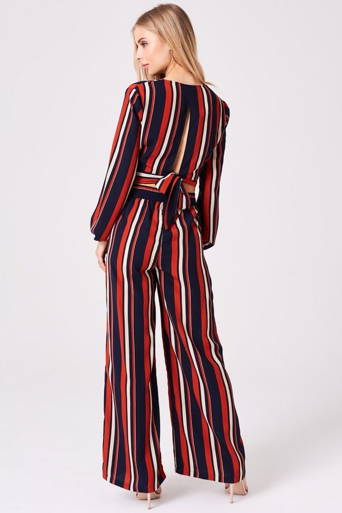 Outrageous Fortune Stripe Palazzo Trousers Co-Ord