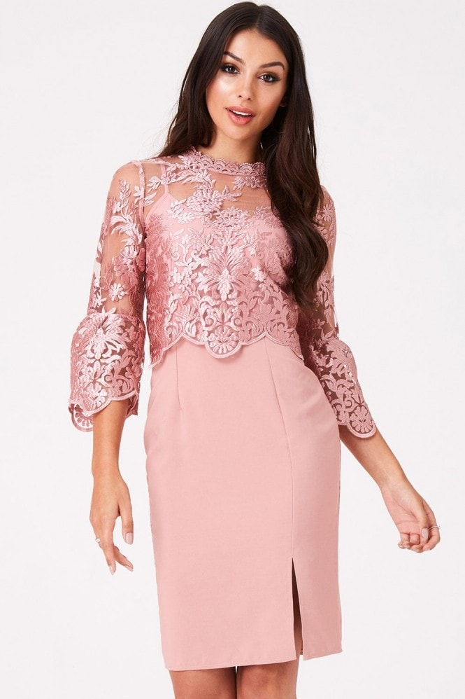 Little Mistress Ginnie Apricot Embroidery Dress