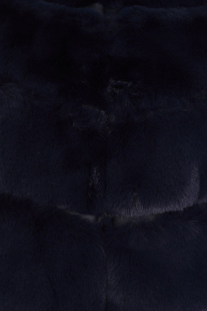 Little Mistress Harley Navy Faux-Fur Gillet