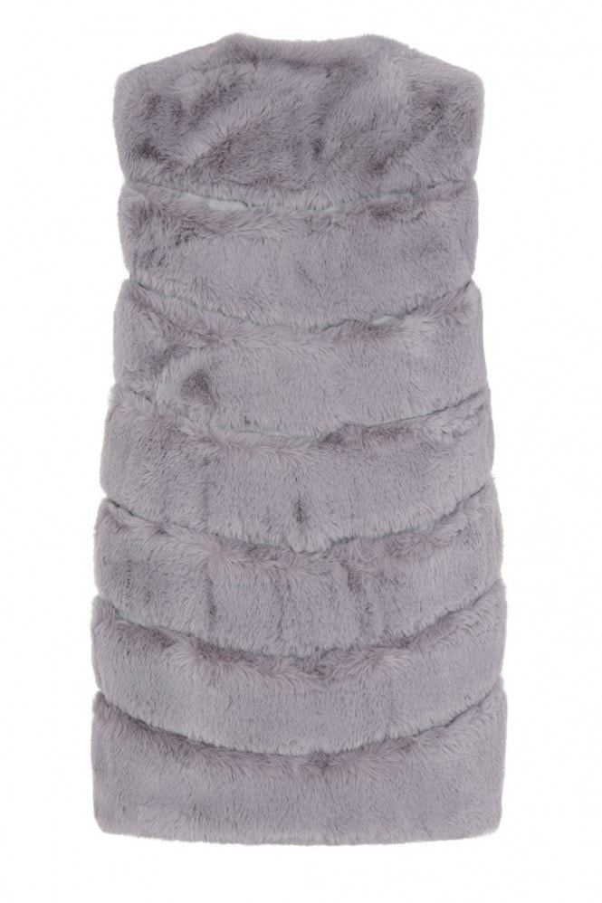 Little Mistress Harley Grey Faux-Fur Gillet