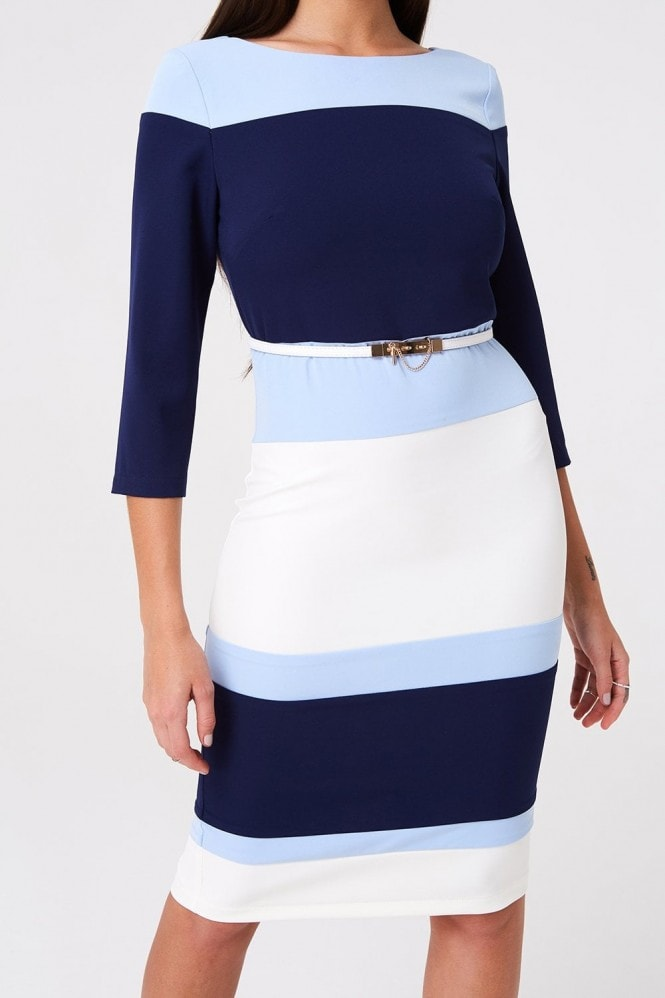 Paper Dolls Callow Navy Blue Colour Block Dress