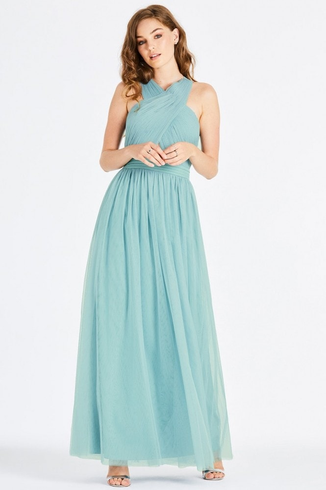 Little Mistress Lais Sage Tie Back Maxi Dress