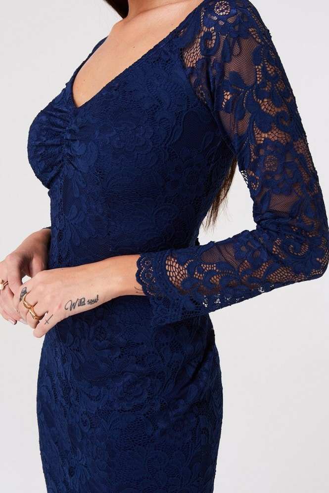 Paper Dolls Belgrave Navy Lace Dress