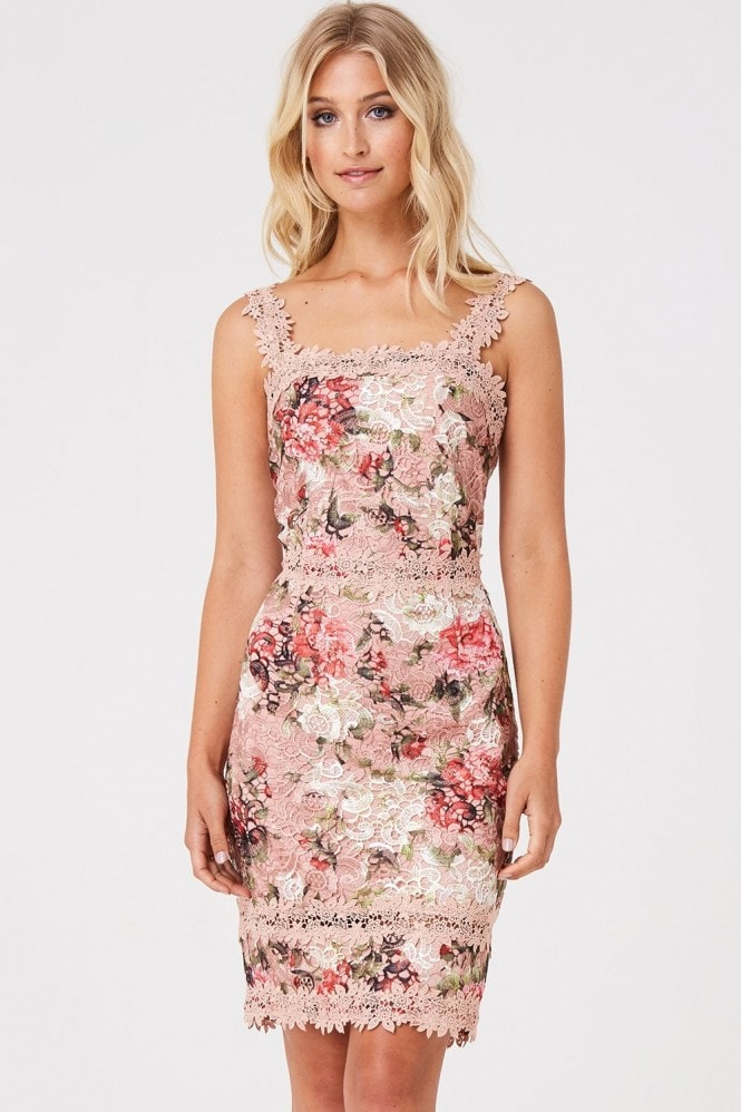 Botanist Pink Floral Lace Dress