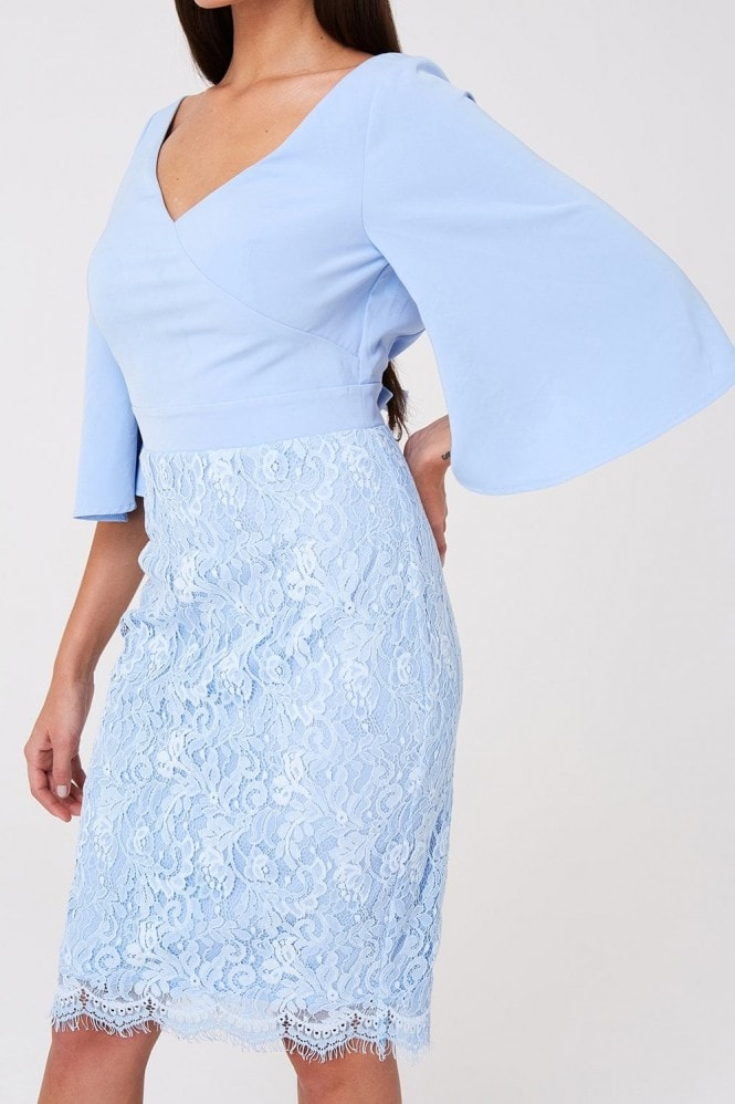 Paper Dolls Lancaster Blue Lace Bow Dress