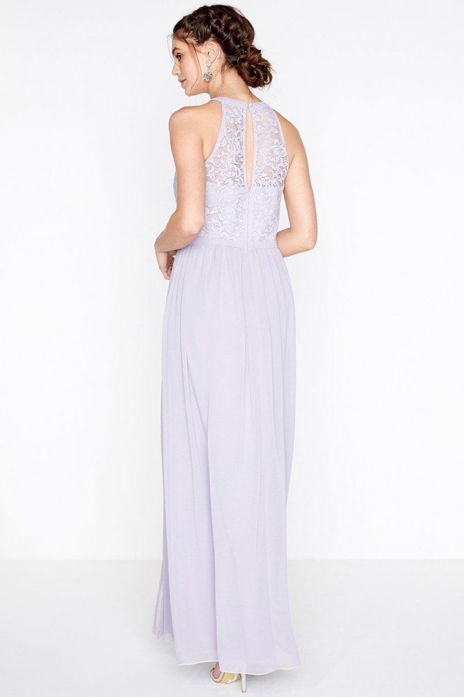 Little Mistress Lace Halter Neck Maxi Dress