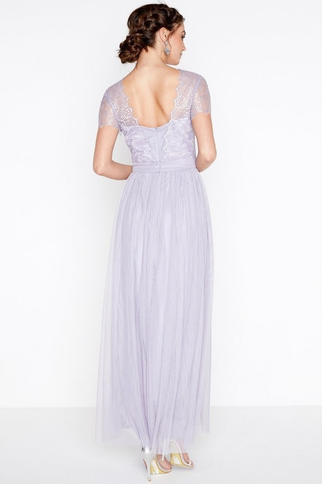 Little Mistress Overlay Maxi Dress