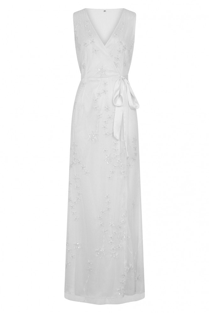 Rock n Roll Bride Stellar White Star Embroidery Maxi Dress