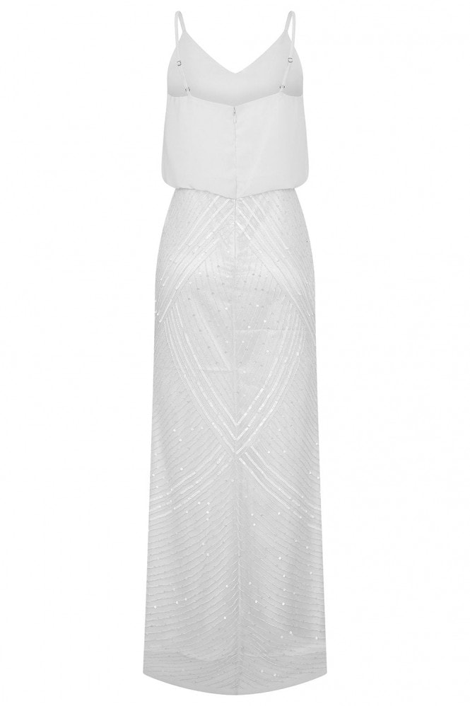Rock n Roll Bride Astral White Embellished Maxi Dress