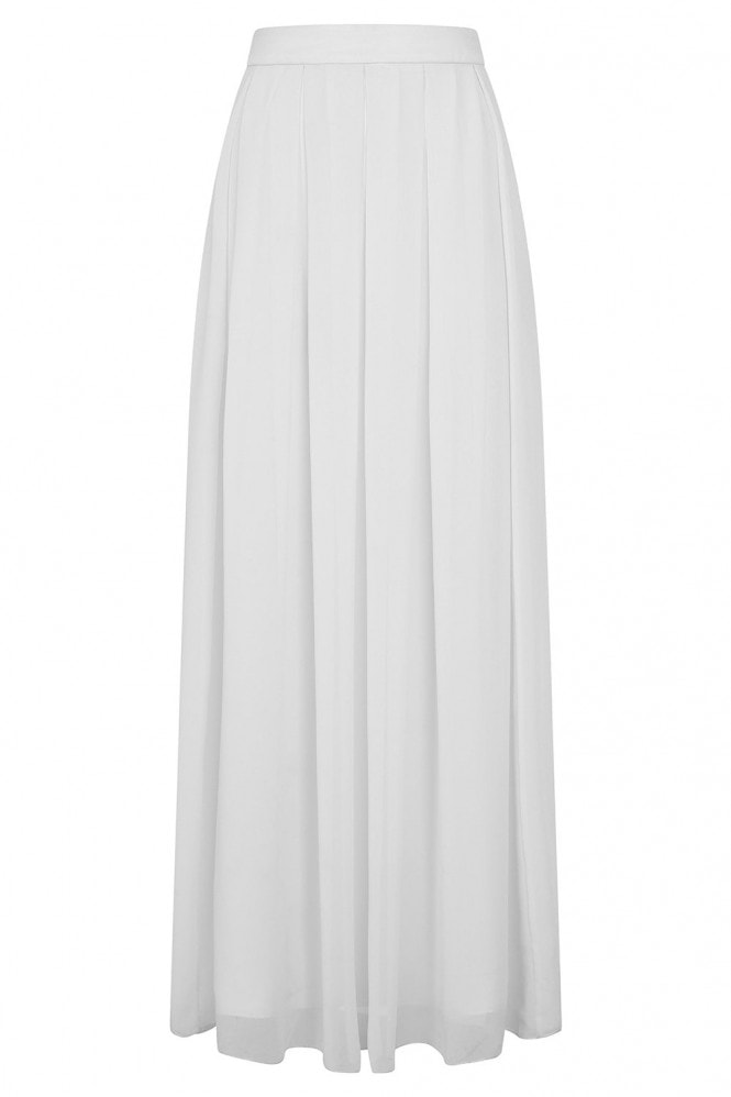 Rock n Roll Bride Athena White Maxi Skirt Co-ord