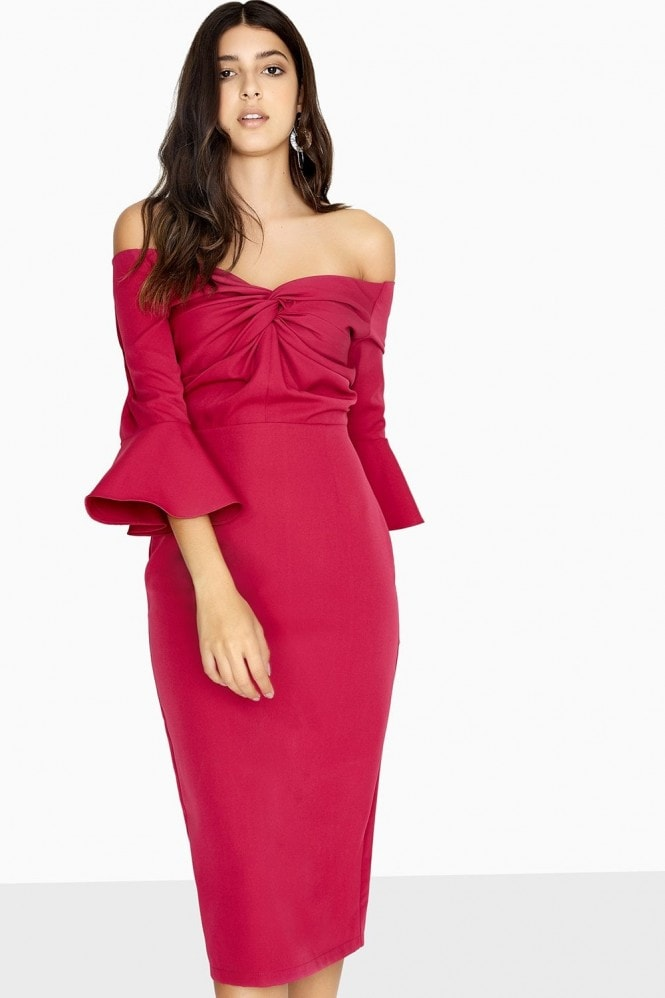 Valley Knotted Off The Shoulder Dress