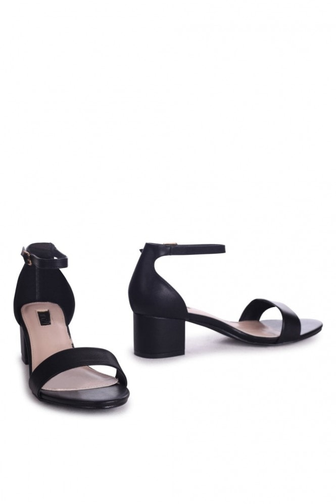 Linzi HOLLIE - Black Nappa Barely There Block Heeled Sandal With Closed Back