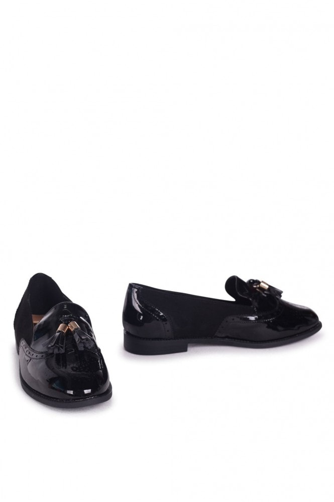 Linzi MAXIE - Black Patent & Suede Classic Tassel Loafer