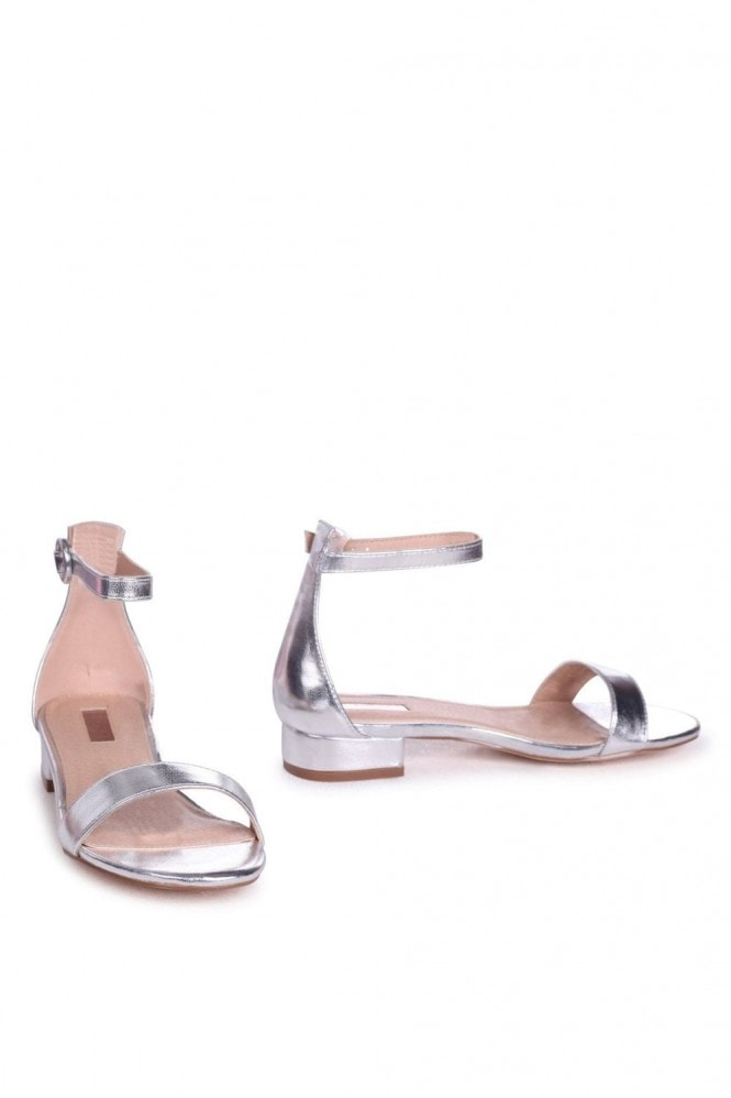 Linzi MONIQUE - Silver Nappa Barely There Block Heeled Sandal
