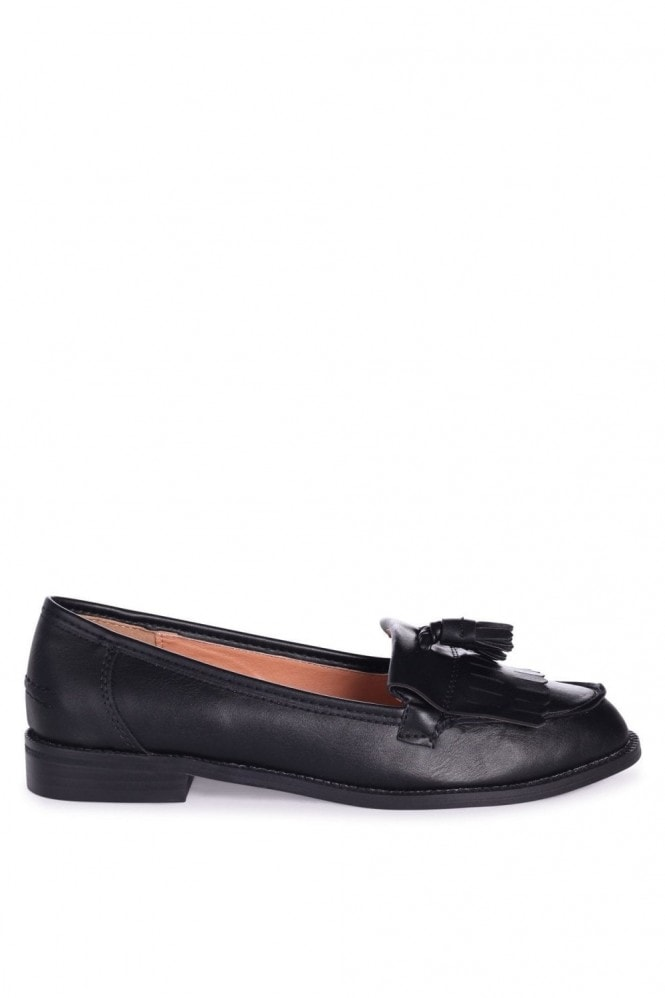Linzi ROSEMARY - Black Nappa Classic Slip On Loafer