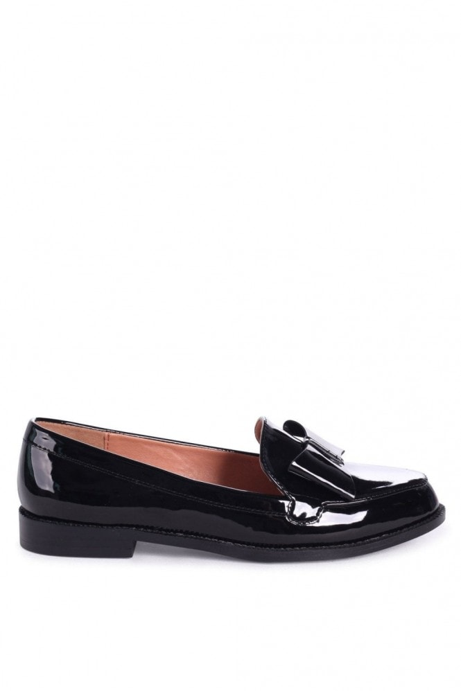 Linzi JAMIMA - Black Patent Classic Slip On Loafer With Tassel Detail